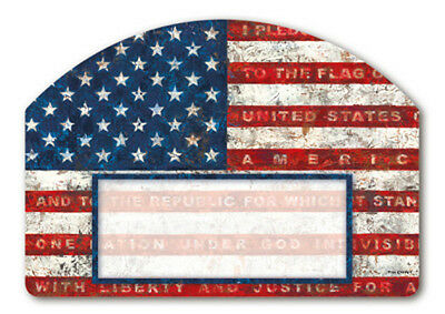 PLEDGE OF ALLEGIANCE Magnetic Yard DeSign Plaque - and it's made in the USA!