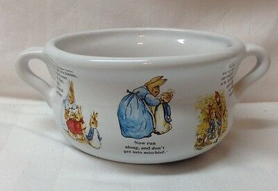 Teleflora Beatrix Potter Two Handled Bowl with Peter Rabbit 1999