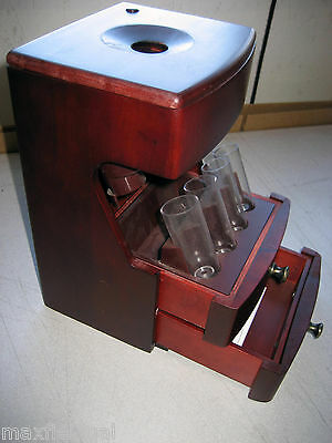 Used Mag-Nif 6900 Solid Wood Deluxe Valet Motorized Coin Sorter, 6.5x6.5x10.5