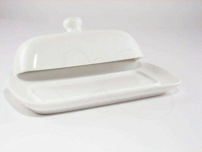 NEW Butter Dish with Lid White Fine Porcelain FREE SHIPPING