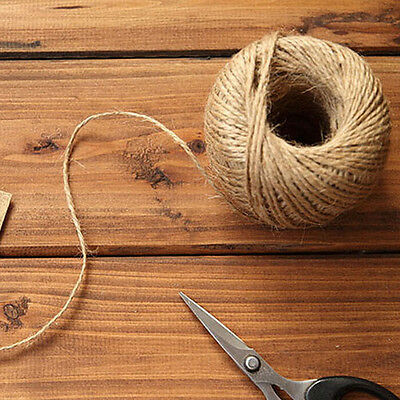 High 1Roll Jute String Hemp Rope Brown For Jewelry Necklace Making DIY Fashion