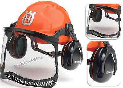 Safety Helmet Hard Hat Ear Muff Face Screen Hearing Sound Eye Protection Worker
