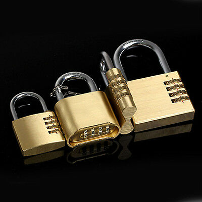 High 3 Dial Metal Resettable Combination Padlock Suitcase Luggage Password Lock