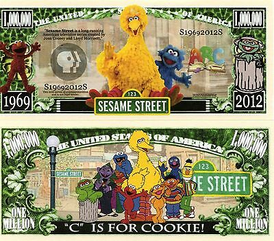 Sesame Street TV Series Million Dollar Novelty Money