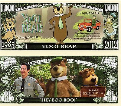 Yogi Bear - Hanna-Barbera Movie/TV Character Million Dollar Novelty Money