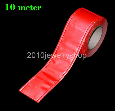 "Red Gloss Reflective Sew On Tape PVC Material 5cmx10meter (2""x32.8ft)"