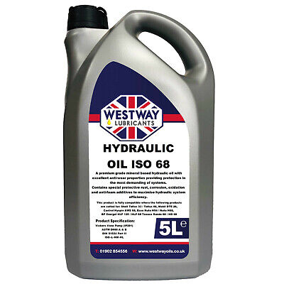 Hydraulic Oil 68 Fluid 5L VG68 Westway High Grade 5 Litres ISO 68 DIN 51524
