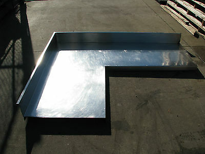 Large Commercial Stainless Steel Corner Table Bench