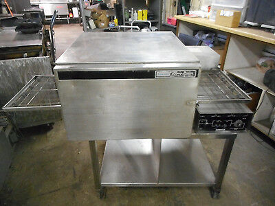 LINCOLN IMPINGER ELECTRIC CONVEYOR PIZZA OVEN, 3-ph., 220v, w/cart