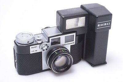 Rare*  Sugaya Mity-Minimax Pocket 110 Ee Camera Forerunner Of Pentax W/ 32Mm 2.0