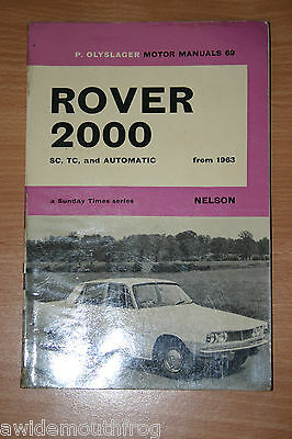 Rover 2000 SC TC & Automatic From 1963 P Olyslager Motor Manuals