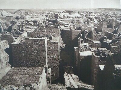 1925 BABYLON ISHTAR GATE Excavation Mesopotamia Sepia Photogravure ARCHITECTURE