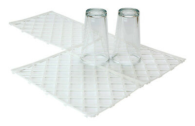 Clear Glass Mats Interlocking x 10/20/30/40/50 Bar Restaurant