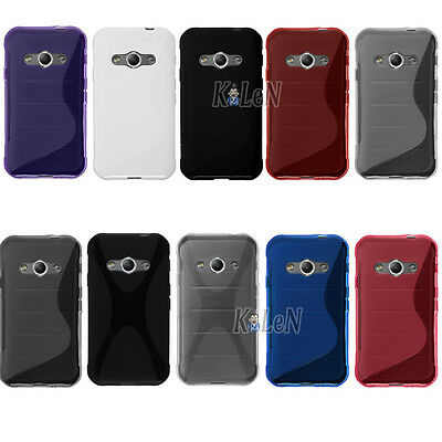 S Shape Soft Gel TPU Silicone Case Skin Cover For Samsung Galaxy Xcover 3 G388F