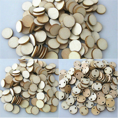 100x Wooden Wood Base Disk Circle Pieces Painting Craft Cardmaking Scrapbooking
