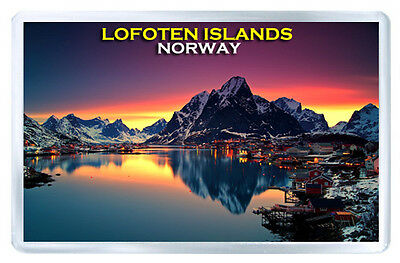 Lofoten Islands Norway Mod2 Fridge Magnet Souvenir Iman Nevera
