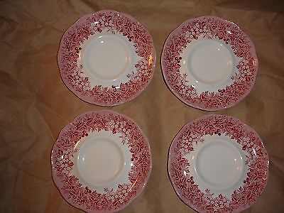 Set Of 4 Saucers J&g Meakin Romantic England Warwickshire Anne Hathaway Cottage