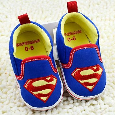 Baby Boy Superbaby Superman Blue Pre Walker Canvas Casual Shoes