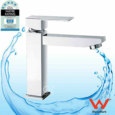 WELS WaterMark Square Basin Mixer Bathroom Laundry Sink Tap Spout Faucet Chrome