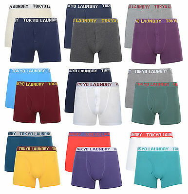 Tokyo Laundry Boxer Shorts Men's Underwear Cotton Stretchy 2 Pack
