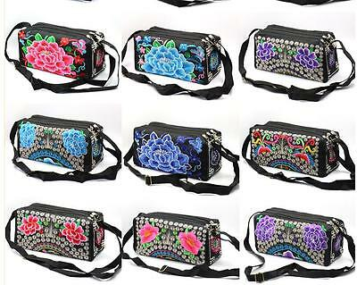 Wholesale10pcs Chinese Ethnic Vintage Embroiderd Phone Pouch Cosmetic Bag Purse