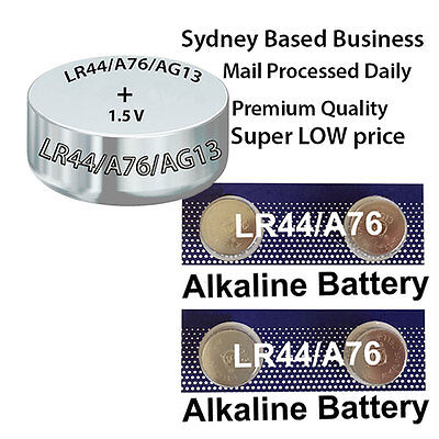 6(SIX) Buttons of LR44 AG13 A76 Battery, Fresh & Fast Ones from Sydney