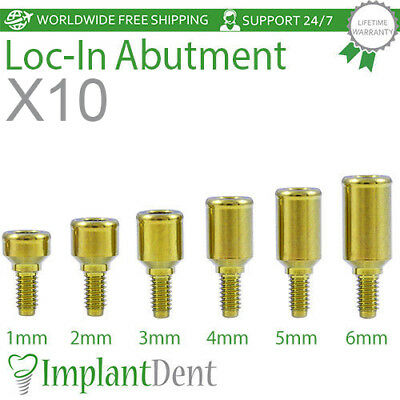 10 Locator Titanium Abutment Dental Implant Dentist Internal Hex, Prosthetic