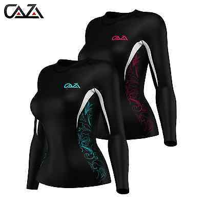 Womens Compression Long Sleeve Sports Top, Gym Training Fitness Base Layer Shirt