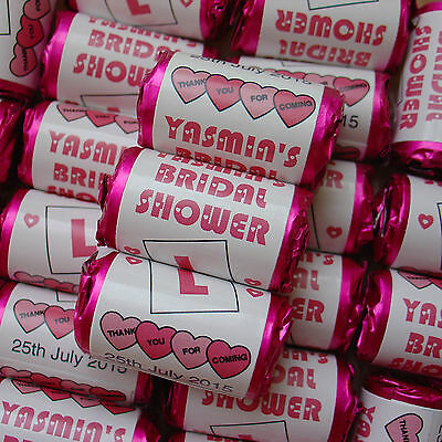 Personalised Love Hearts Sweets Wedding L Plate Hen Night Party Favours 25-100