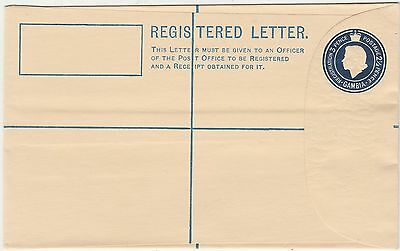Gambia 1950S Qeii Registered Letter Postal Stationary Cover