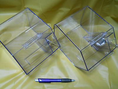 Jumbo Clear Bins with Silver (plastic) scoop: set of 6