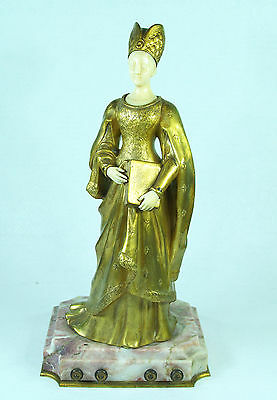Jean-Louis Gregoire (French 1840 - 1890) Antique Gilded Bronze Signed real Old