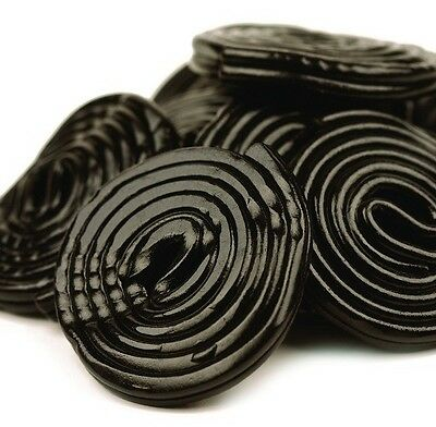 Black Licorice Wheels - Big 4.4 Lb Bag!- Free Expedited Shipping!