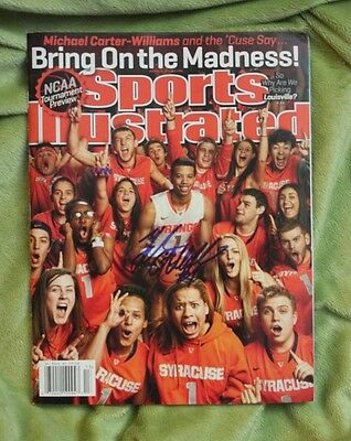 Michael Carter-Williams autographed Sports Illustrated full magazine