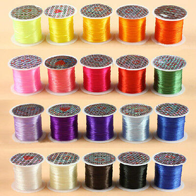 0.8mm 10m Elastic Stretch Jewelery Bracelet Making Beading Thread Cord String