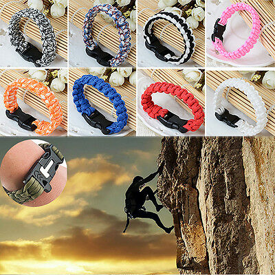 High Survival Outdoor Bracelet Tactical Parachute Cord Bush Wristband Rope