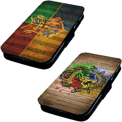 Hogwarts Logo Designs Printed Faux Leather Flip Phone Cover Case