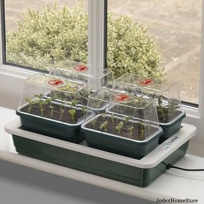 Garland Fab 4 Electric Heated and Ventilated Propagator seed tray G125