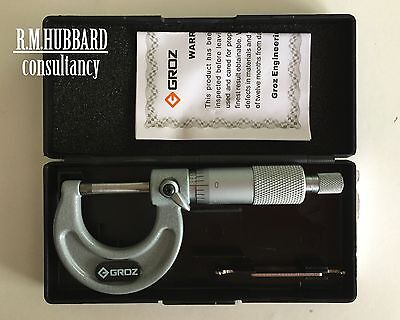 Micrometer  0 - 1 inch external. Quality tool by Groz.