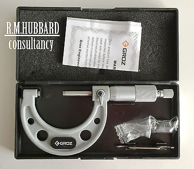 Engineer 1 - 2 inch imperial external micrometer. Quality tool by Groz.