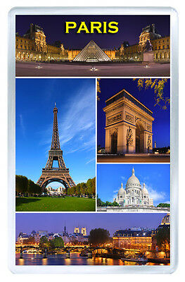 Paris France Places Fridge Magnet Souvenir Iman Nevera