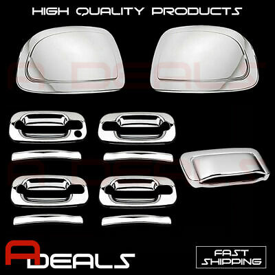 For Chevy Suburban 02-06 Chrome Mirror Cap, Door Handle & Tailgate Cover