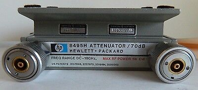 HP 8495H PROGRAMMABLE STEP  ATTENUATOR/ 70 dB, DC-18GHZ, OPTION 003