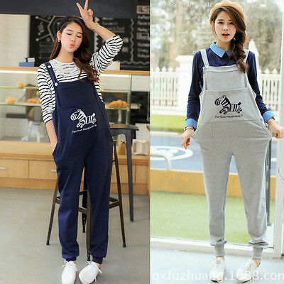 Maternity Dungarees Overalls Pants Trousers Little Horse Cute Comfy M/L/XL