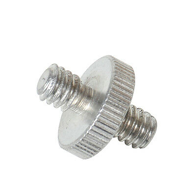 """New Metal 1/4"""" Male to 1/4"""" Male Threaded Mount Screw Convert Adapter For Camera"""