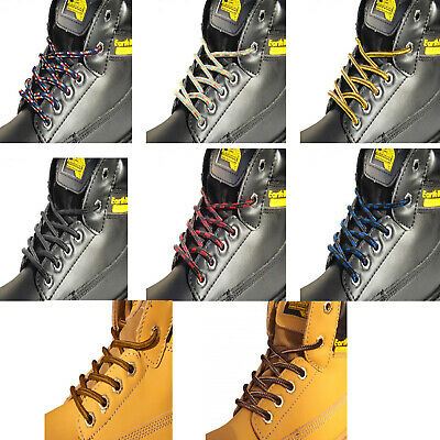 STRONG SHOELACES BOOT LACES IN 4 LENGTHS FOR MENS & WOMENS WORK BOOTS or HIKING