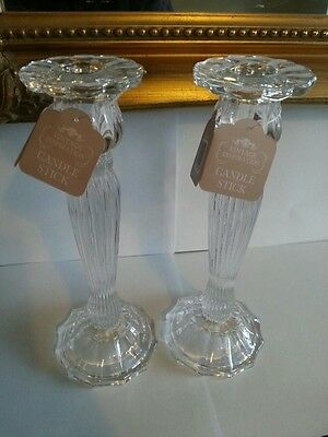 Large decorative glass candlesticks.vintage dining weddings parties & occasions