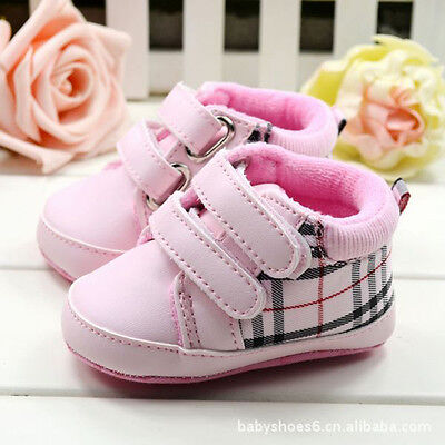 Baby Girl pink Crib Shoes Toddler Sneakers Size Newborn to 18 Months /M