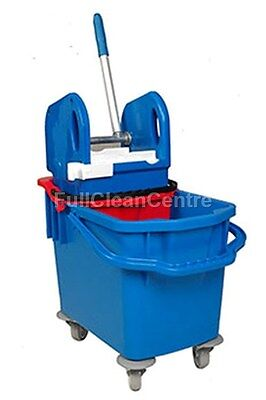 25L Ergo Kentucky Mop Bucket With Wheels & Double Bucket For Dirty Water