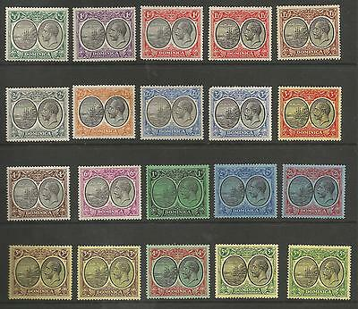 Dominica 1923-33 Sv Set Of 20 To 5/- (2) Fresh Mounted Mint See Scans